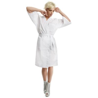 Camice Estetista Lungo divise Estetica in Cotone Bianco taglia unica