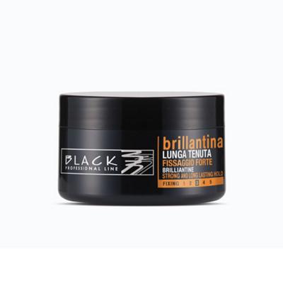 BRILLANTINA CAPELLI FISSAGGIO FORTE LUNGA TENUTA 100 ml BLACK PROFESSIONAL