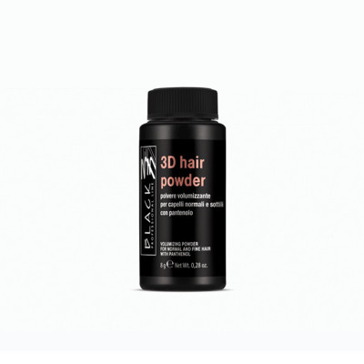 POLVERE VOLUMIZZANTE PER CAPELLI NORMALI E SOTTILI 3 D HAIR CON PANTENOLO 8 gr. BLACK PROFESSIONAL