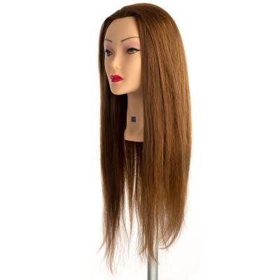 Testina per Parrucchieri Labor Pro Pratica per Acconciature Capelli 100% Naturale 60 cm