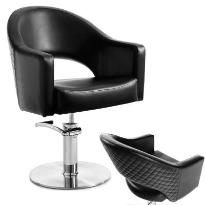 Poltrona da Salone Parrucchiere Ecopelle Nera Elegante in Offerta